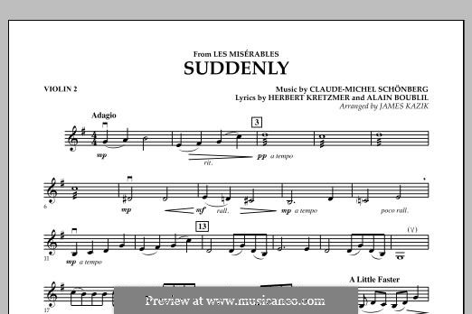 Suddenly: For strings – Violin 2 part by Claude-Michel Schönberg