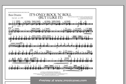 It's Only Rock 'n' Roll (But I Like It): Bass Drums part by Keith Richards, Mick Jagger