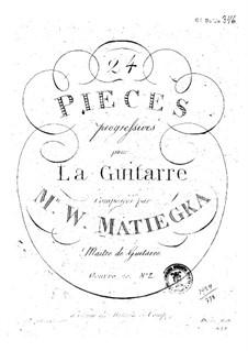 Vierundzwanzig progressive Stücke : Buch II by Wenzel Thomas Matiegka