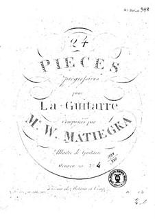 Vierundzwanzig progressive Stücke : Buch IV by Wenzel Thomas Matiegka