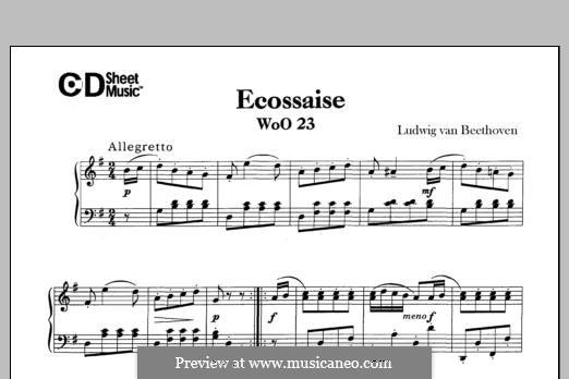 Écossaise in G-Dur, WoO 23: Für Klavier by Ludwig van Beethoven