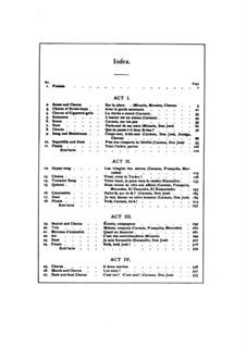 Vollständiger Oper: Akt I, Klavierauszug mit Singstimmen by Georges Bizet