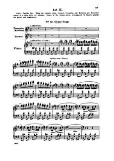 Vollständiger Oper: Akt II, Klavierauszug mit Singstimmen by Georges Bizet