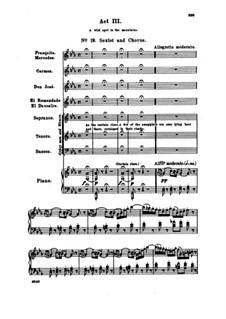 Vollständiger Oper: Akt III, Klavierauszug mit Singstimmen by Georges Bizet