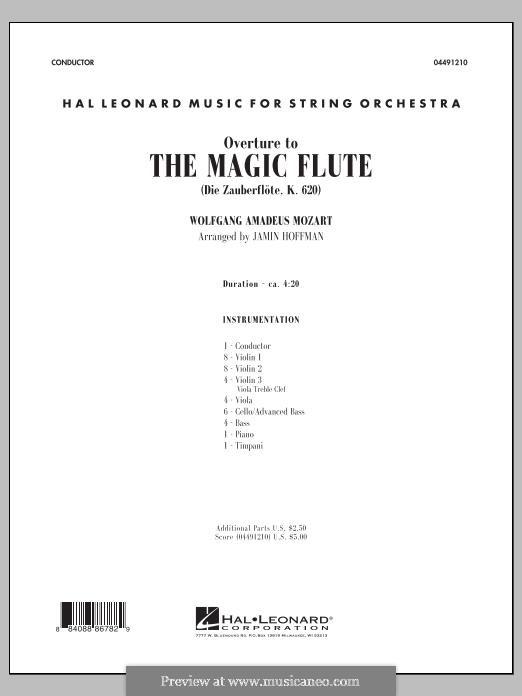 Ouvertüre: Full Score (Jamin Hoffman) by Wolfgang Amadeus Mozart