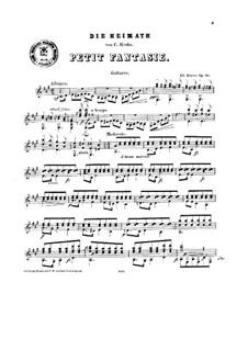 Fantasie über 'Die Heimath' von Krebs, Op.20: Für Gitarre by Eduard Bayer