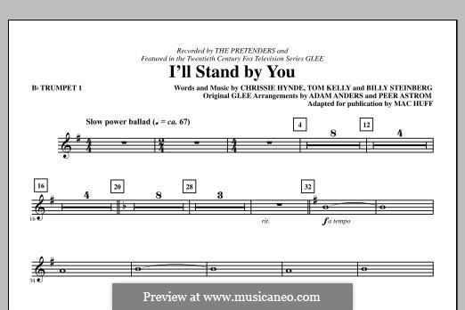 I'll Stand By You (The Pretenders): Bb Trumpet 1 part by Billy Steinberg, Chrissie Hynde, Tom Kelly