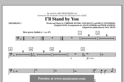 I'll Stand By You (The Pretenders): Trombone 1 part by Billy Steinberg, Chrissie Hynde, Tom Kelly