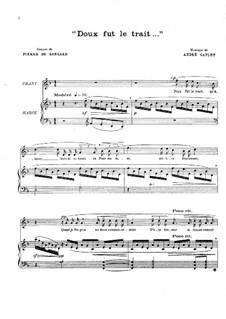Doux fut le trait für Stimme und Harfe: Doux fut le trait für Stimme und Harfe by André Caplet