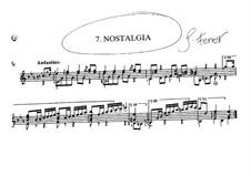 Nostalgia: Für Gitarre by José Ferrer