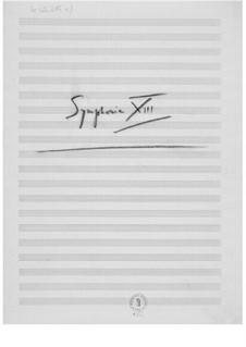 Sinfonie Nr.13: Skizzen by Ernst Levy