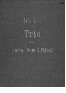 Klaviertrio: Vollpartitur by Ernst Levy