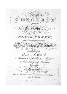 Sechs Konzerte für Streicher und Tasteninstrument, Op.11: Violinstimme I by Carl Friedrich Abel