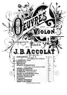 Konzert für Violine und Orchester Nr.1 in a-Moll: Version für Violine und Klavier by Jean-Baptiste Accolay