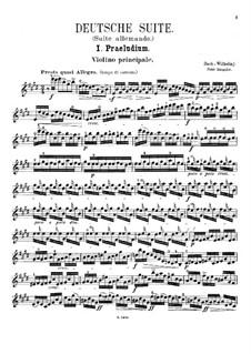 Partita für Violine Nr.3 in E-Dur, BWV 1006: Bearbeitung für Violine und Klavier – Solo Stimme by Johann Sebastian Bach