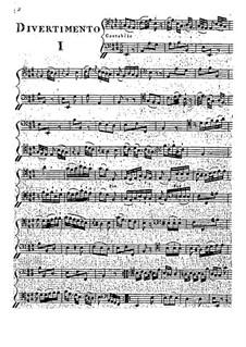 Zwölf Divertissements für zwei Cellos: Zwölf Divertissements für zwei Cellos by Giacobbe Basevi Cervetto