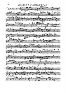 Sechs Quartette für Flöte und Streicher, Op.12: Sechs Quartette für Flöte und Streicher by Carl Friedrich Abel