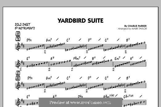Yardbird Suite: Bb Solo Sheet part by Charlie Parker
