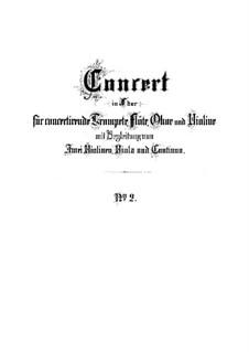 Brandenburgisches Konzert Nr.2 in F-Dur, BWV 1047: Partitur by Johann Sebastian Bach