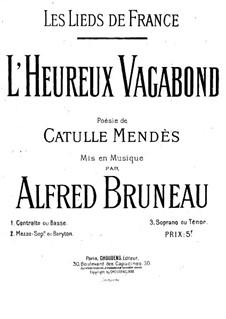 Les lieds de France: No.5 L'heureux Vagabond by Alfred Bruneau