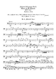 Vollständiger Messe: Paukenstimme by Johann Sebastian Bach