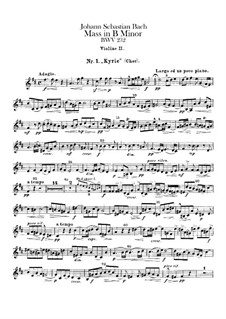 Vollständiger Messe: Violinstimme II by Johann Sebastian Bach