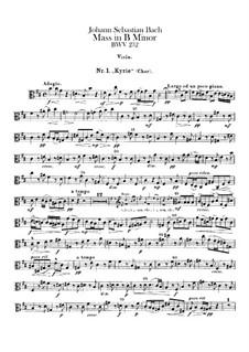 Vollständiger Messe: Violastimme by Johann Sebastian Bach