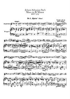 Vollständiger Messe: Orgelstimme by Johann Sebastian Bach