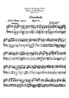 Vollständiger Messe: Cembalostimme by Johann Sebastian Bach