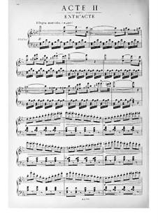 Si j'étais roi (Wenn ich König wäre): Akt II, Klavierauszug mit Singstimmen by Adolphe Adam