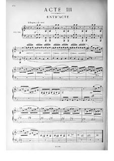 Si j'étais roi (Wenn ich König wäre): Akt III, Klavierauszug mit Singstimmen by Adolphe Adam