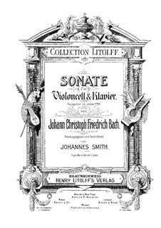 Sonate in D-Dur, BR BInc3: Cellostimme by Johann Christoph Friedrich Bach