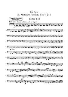 Complete Oratorio: Orchester I, Fagottstimme by Johann Sebastian Bach