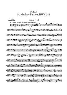 Complete Oratorio: Orchester I, Bratschenstimme by Johann Sebastian Bach