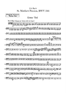 Complete Oratorio: Orchester II, Fagottstimme by Johann Sebastian Bach