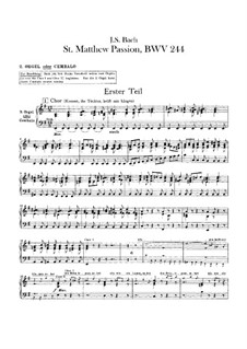 Complete Oratorio: Orchester II, Orgel- oder Cembalostimme by Johann Sebastian Bach