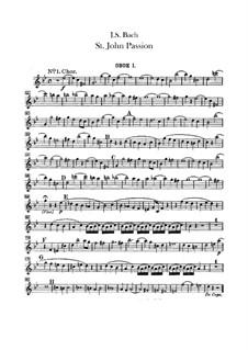 Johannes-Passion, BWV 245: Oboenstimmen by Johann Sebastian Bach