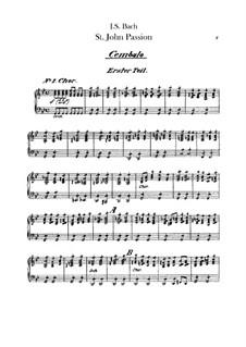 Johannes-Passion, BWV 245: Cembalostimme by Johann Sebastian Bach