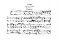 Johannes-Passion, BWV 245: Orgelstimme by Johann Sebastian Bach