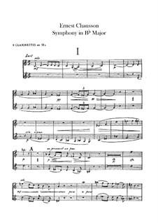 Sinfonie in B-Dur, Op.20: Klarinettenstimmen by Ernest Chausson