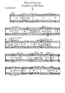Sinfonie in B-Dur, Op.20: Fagottstimme by Ernest Chausson