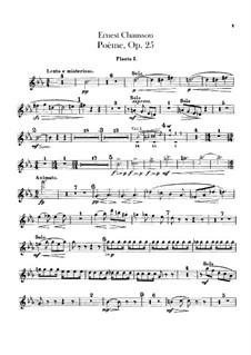 Poem in Es-Dur, Op.25: Flötenstimme by Ernest Chausson