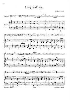 Inspiration für Cello und Klavier: Partitur by V. Danilevsky