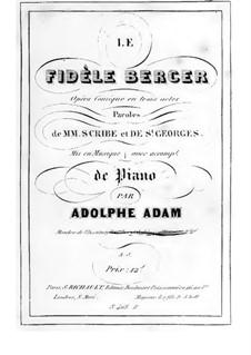 Le farfadet: Akt I, Klavierauszug mit Singstimmen by Adolphe Adam