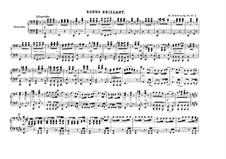 Divertissement über französische Themen, D.823: Nr.3 Rondeau Brillant, Op.84 by Franz Schubert
