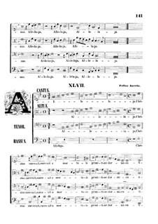 Alleluja. Christus surrexit: Singpartitur by Felice Anerio