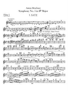 Sinfonie Nr.5 in B-Dur, WAB 105: Flötenstimmen by Anton Bruckner