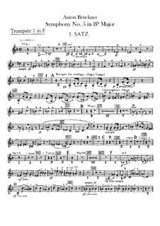 Sinfonie Nr.5 in B-Dur, WAB 105: Trompetenstimmen by Anton Bruckner