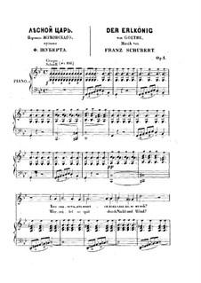 Erlkönig, D.328 Op.1: Klavierauszug mit Singstimme by Franz Schubert