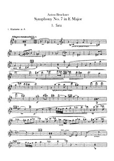Sinfonie Nr.7 in E-Dur, WAB 107: Klarinettenstimmen by Anton Bruckner
